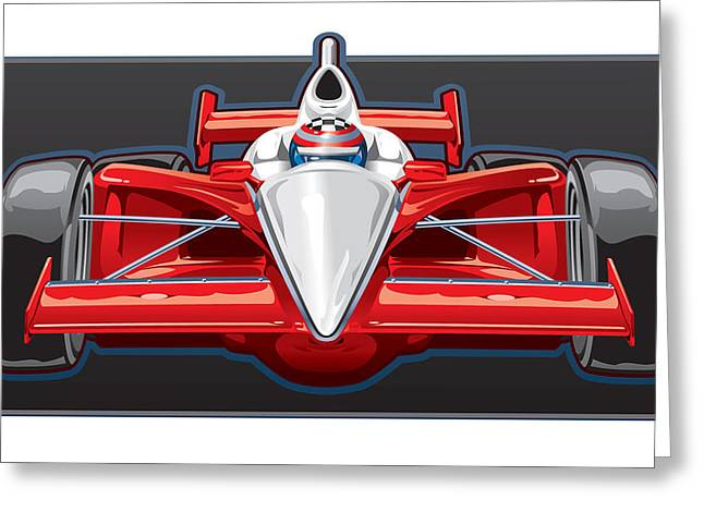 Indy Car Greeting Card by Steven Schader