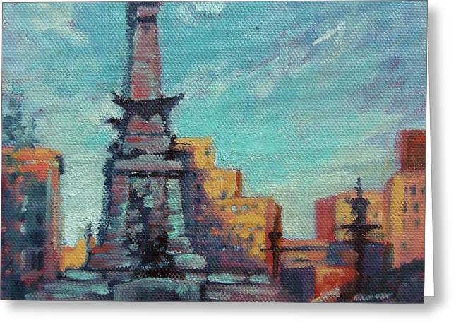 Donna Shortt Greeting Cards - Indy Circle- Day Greeting Card by Donna Shortt