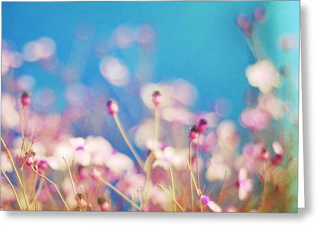 Square Print Greeting Cards - Infatuation in Blue II Greeting Card by Amy Tyler