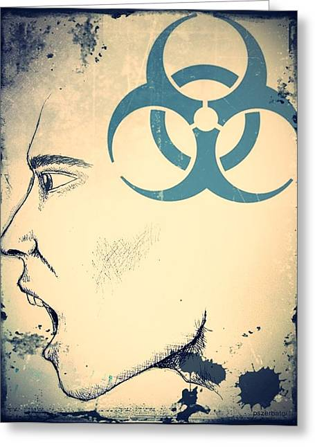 Toxic Mixed Media Greeting Cards - Infectious Substance Greeting Card by Paulo Zerbato