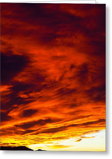 Sunset Greeting Cards Greeting Cards - Inferno Greeting Card by James Marvin Phelps