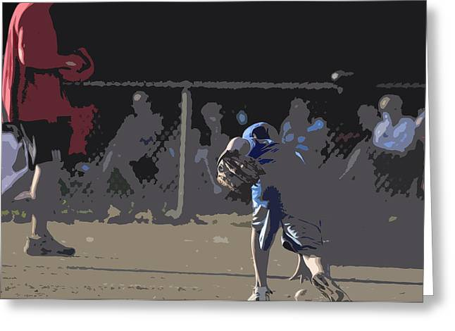 Infield Greeting Card by Peter  McIntosh