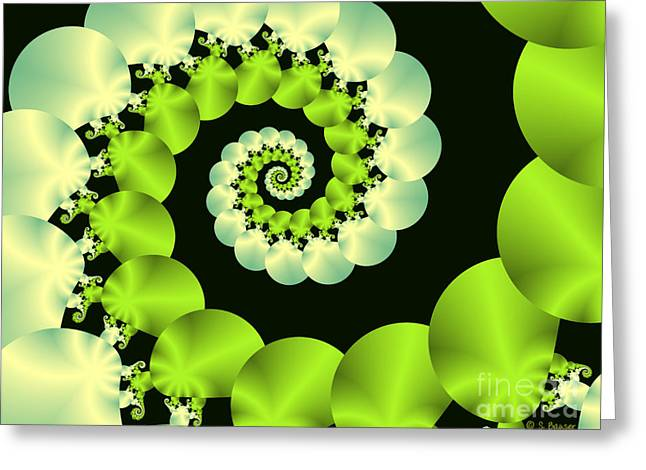 Chartreuse Greeting Cards - Infinite Chartreuse Greeting Card by Sandra Bauser Digital Art