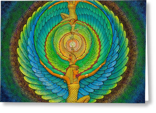 Goddess Greeting Cards - Infinite Isis Greeting Card by Sue Halstenberg