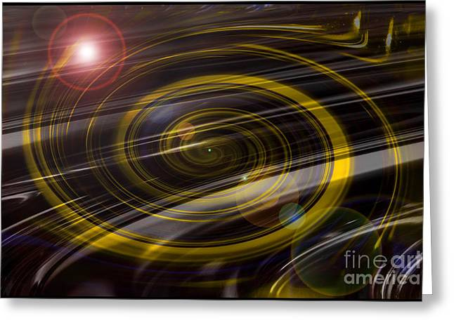 Outerspace Greeting Cards - Infinity Greeting Card by Denise Oldridge