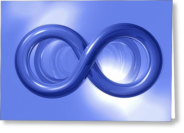 Infinity Greeting Card by Roger Harris