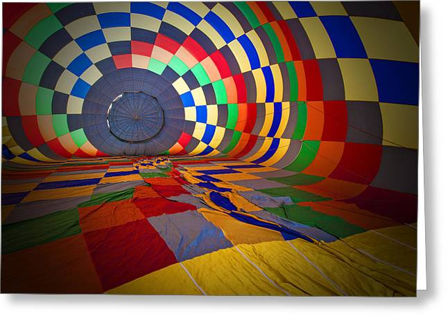 Balloon Greeting Cards - Inflating Greeting Card by Rick Berk
