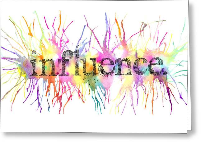 Gouache Mixed Media Greeting Cards - Influence. Greeting Card by Kalie Hoodhood