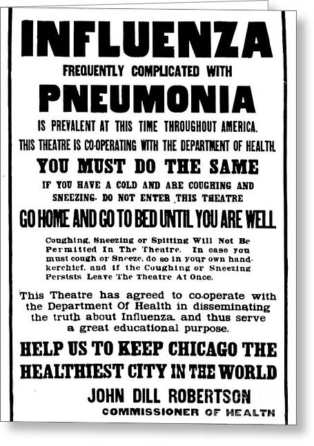 Pandemic Greeting Cards - Influenza Pandemic, 1918 Greeting Card by Science Source