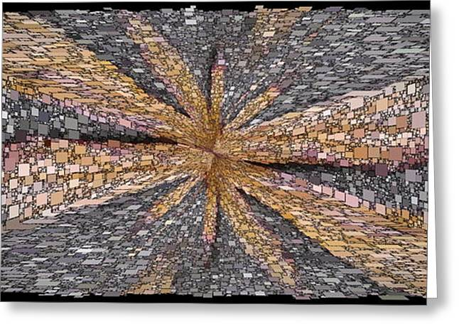 Abstract Geometric Greeting Cards - Influx Greeting Card by Tim Allen