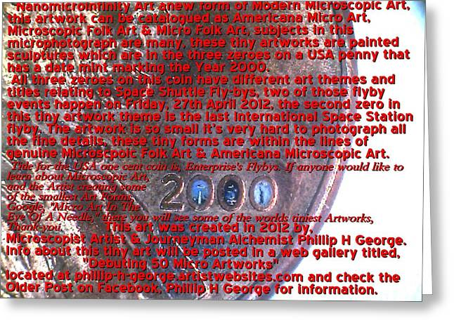 Folk Art Sculptures Greeting Cards - Information Microphotograph Number Two  Greeting Card by Phillip H George