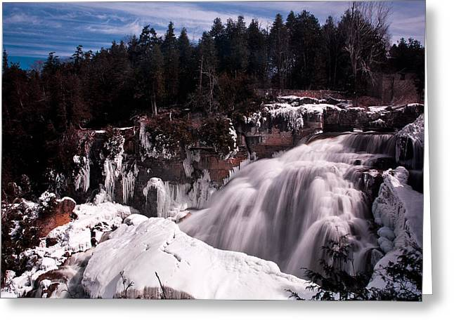 Water Fall Greeting Cards - Inglis Falls Greeting Card by Cale Best