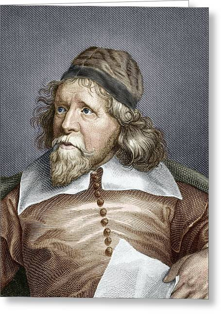 Banquet Greeting Cards - Inigo Jones, English Architect Greeting Card by Sheila Terry
