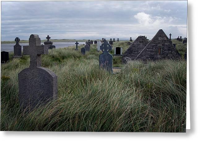 Inis Mor Greeting Cards - Inis Mor Cemetery 2 Greeting Card by John Burnett