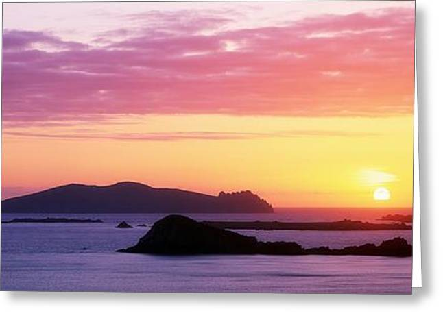 Ocean Panorama Greeting Cards - Inishtookert Island Blasket Islands, Co Greeting Card by The Irish Image Collection