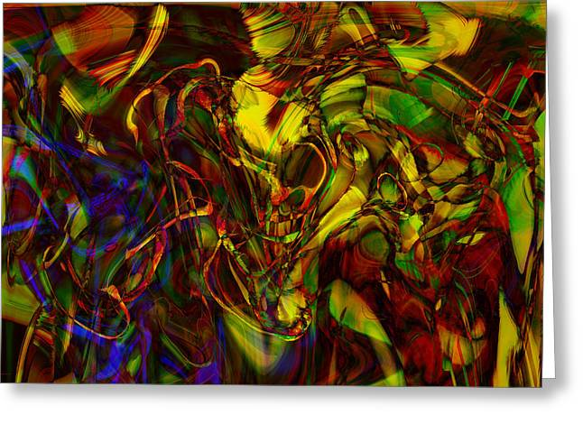 Abstract Expression Greeting Cards - Injections Greeting Card by Linda Sannuti