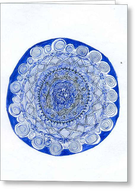 Poornima M Greeting Cards - Ink Work Greeting Card by Poornima M