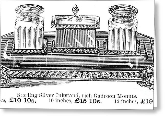 Inkstand, 19th Century Greeting Card by Granger