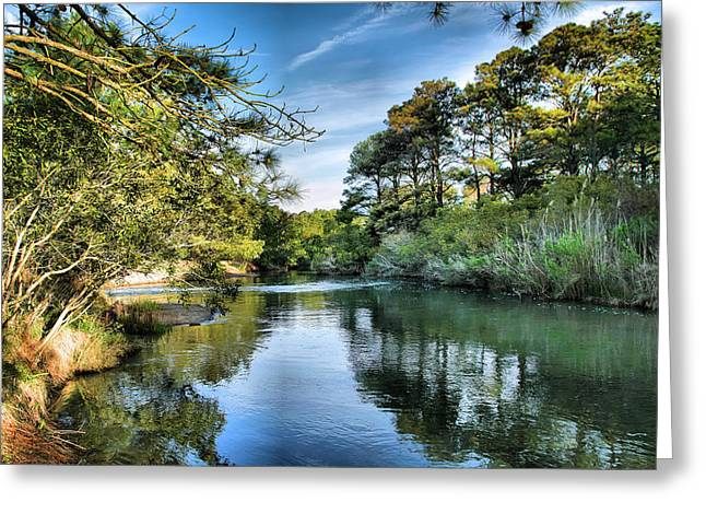 Stream Framed Prints Greeting Cards - Inlet Channel Greeting Card by Steven Ainsworth