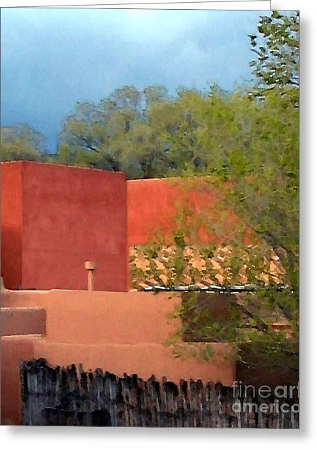 Santa Fe Digital Art Greeting Cards - INN at the ALAMEDA Santa Fe Greeting Card by Charlie Spear