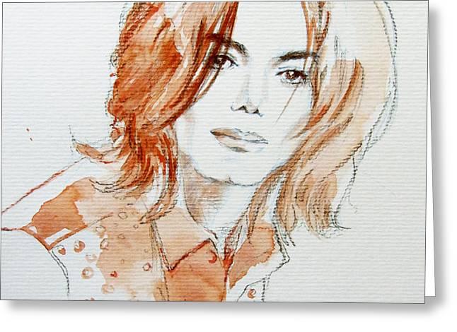 Inner Beauty Greeting Card by Hitomi Osanai