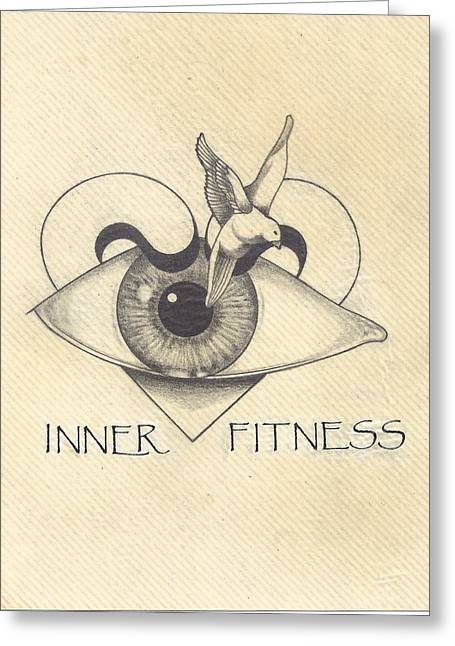 Contemplative Drawings Greeting Cards - Inner Fitness Greeting Card by Jack Edwards