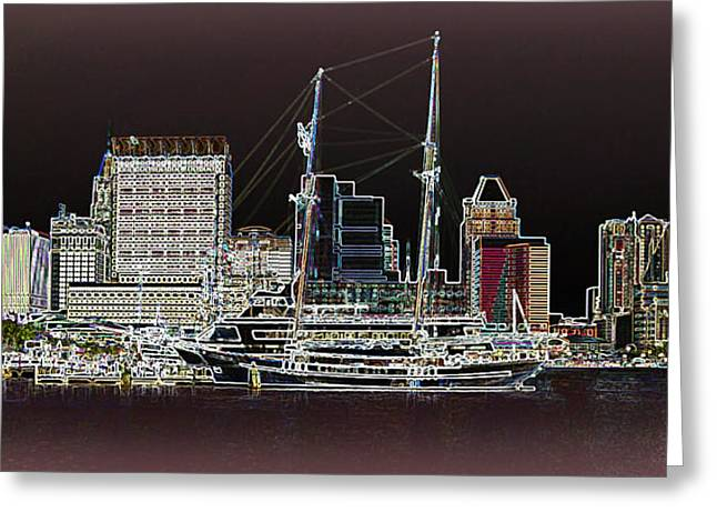 Usf Greeting Cards - Inner Harbor - Baltimore Greeting Card by Brian Wallace