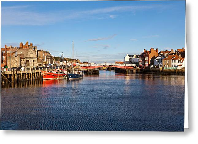 Abbey Giclee Print Greeting Cards - Inner harbour Greeting Card by Gary Finnigan