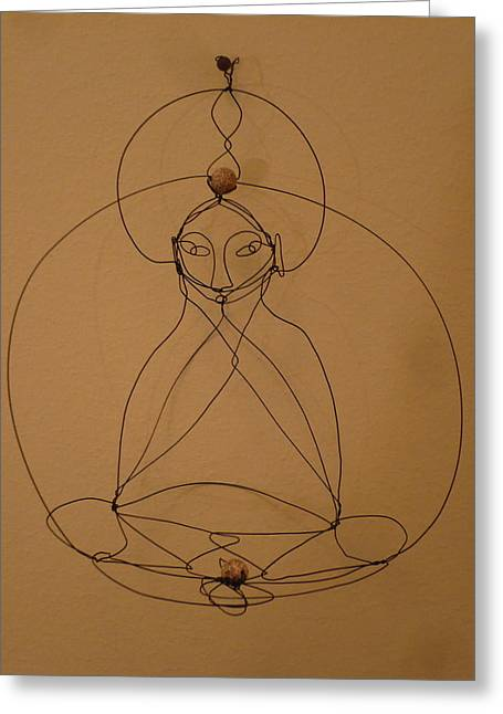 Buddha Sculptures Greeting Cards - Inner Peace Greeting Card by Live Wire Spirit
