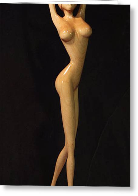 Tall Sculptures Greeting Cards - Inner Peace Greeting Card by Raffi Zaroukian