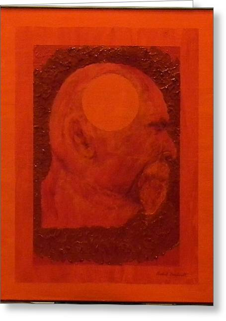 Inner Self Paintings Greeting Cards - Inner Space or The Dot Within Greeting Card by Gilbert Bernhardt