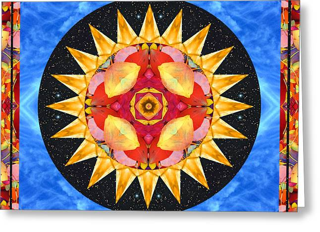 Red Chakra Greeting Cards - Inner Sun Greeting Card by Bell And Todd