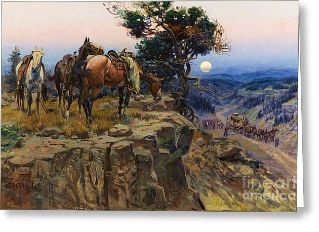 Old West Prints Greeting Cards - Innocent Allies Greeting Card by Pg Reproductions