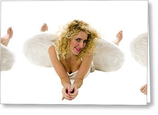 Innocence Greeting Cards - Innocent Angels Greeting Card by Ilan Rosen