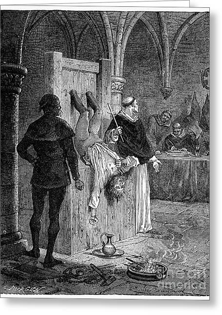 Discrimination Photographs Greeting Cards - Inquisition: Torture Greeting Card by Granger