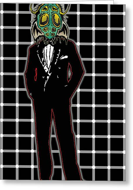 Travis Burns Greeting Cards - Insectoid Fashion 1 Greeting Card by Travis Burns