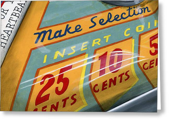 Photorealism Greeting Cards - Insert Coin Greeting Card by Rob De Vries
