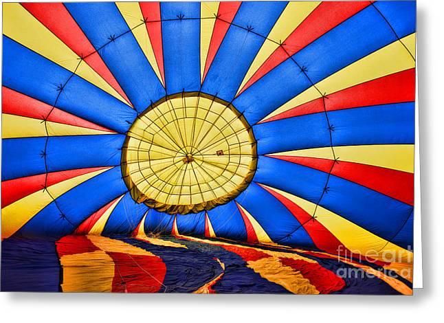 Baloon Greeting Cards - Inside a Hot Air Balloon Greeting Card by Paul Ward
