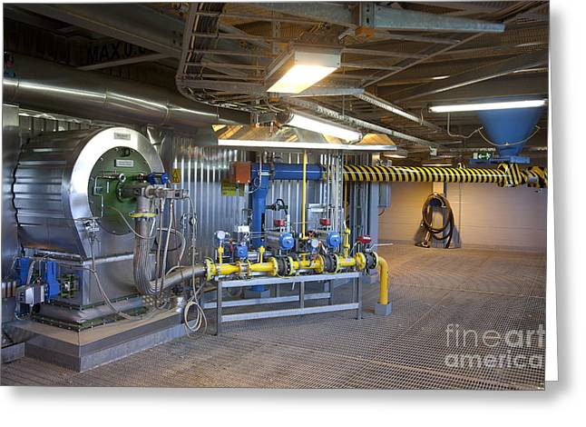 Power Plants Greeting Cards - Inside Power Plant Greeting Card by Jaak Nilson
