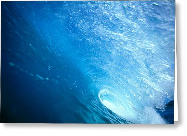 Ocean Art Photos Greeting Cards - Inside The Tube Greeting Card by Vince Cavataio - Printscapes