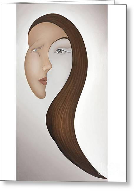 Recently Sold -  - Inner Self Paintings Greeting Cards - Insight Greeting Card by Joanna Pregon