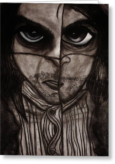Sanity Greeting Cards - Insomnia 2 - Part 2 Greeting Card by Mireille K