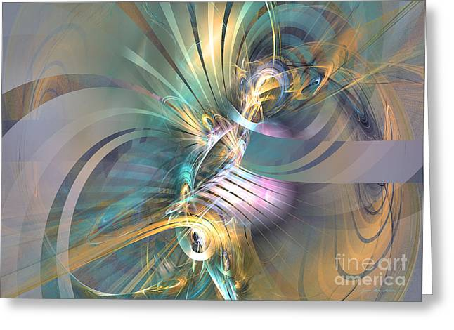 Interior Still Life Mixed Media Greeting Cards - Inspiration - abstract art Greeting Card by Abstract art prints by Sipo