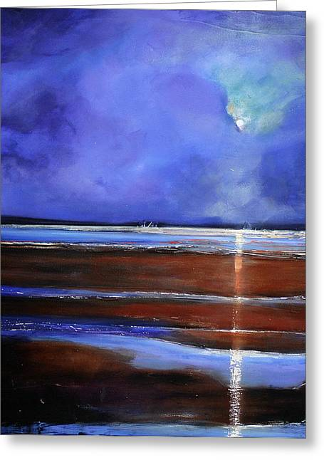 Night Angel Greeting Cards - Inspiration Beach Greeting Card by Toni Grote