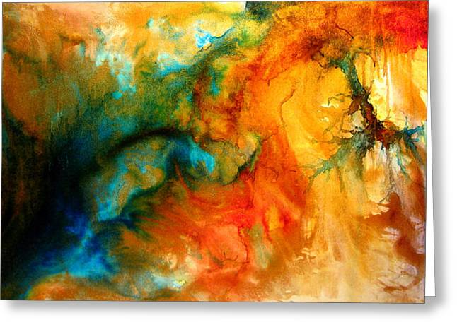 Surreal Landscape Mixed Media Greeting Cards - Inspiration Greeting Card by Henry Parsinia