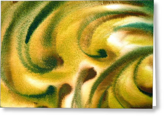 Beige Abstract Greeting Cards - Inspiration One B Greeting Card by Irina Sztukowski