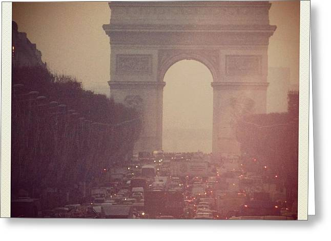Arc De Triomphe Greeting Cards - Instagram Photo - lArc de Triomphe - Paris Greeting Card by Marianna Mills