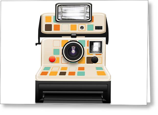 Insert Poster Greeting Cards - Instant Camera Greeting Card by Setsiri Silapasuwanchai