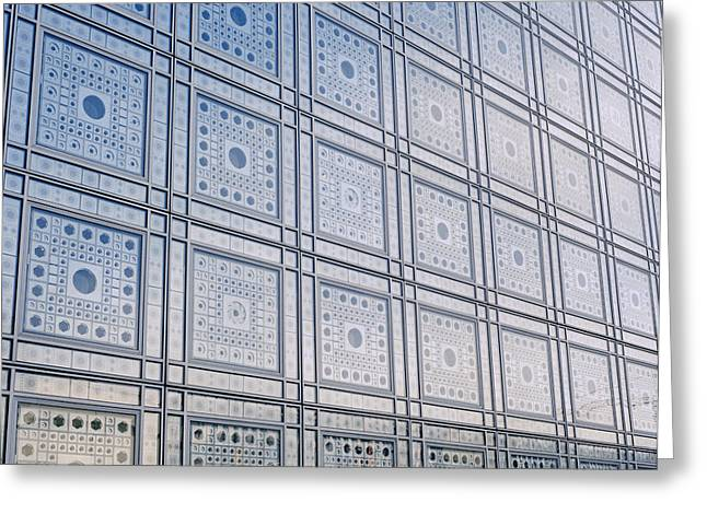 Polish Culture Greeting Cards - Institut du Monde Arabe in Paris in France Greeting Card by Shaun Higson