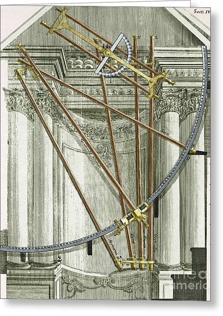Enhanced Greeting Cards - Instruments From A Viennese Observatory Greeting Card by Science Source